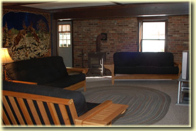 Futons for sleeping 6 people in comfort while lodging in the Allegheny National Forest